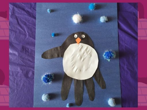 Make a Handprint Penguin with Us!