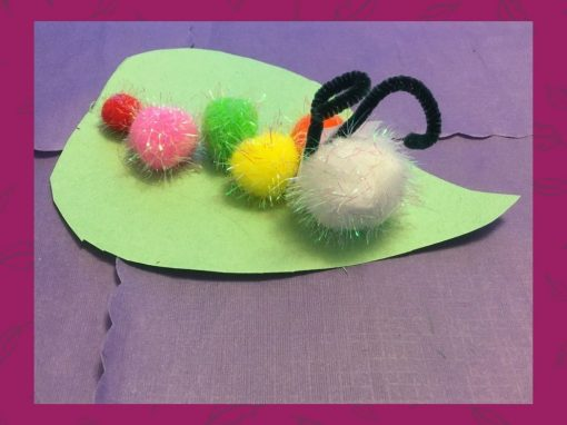 Make a Caterpillar on a Leaf with Us!