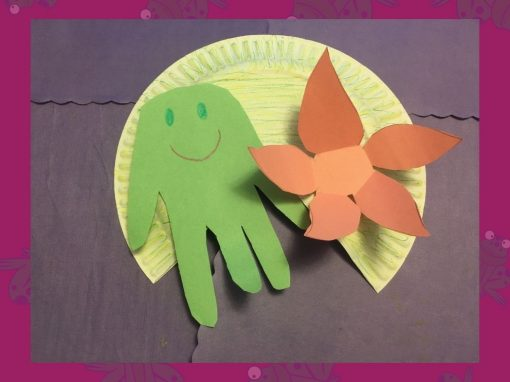 Make a Paper Plate Lily Pad and Handprint Frog with Us!